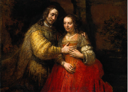 Rembrandt's famous depiction of a man and woman