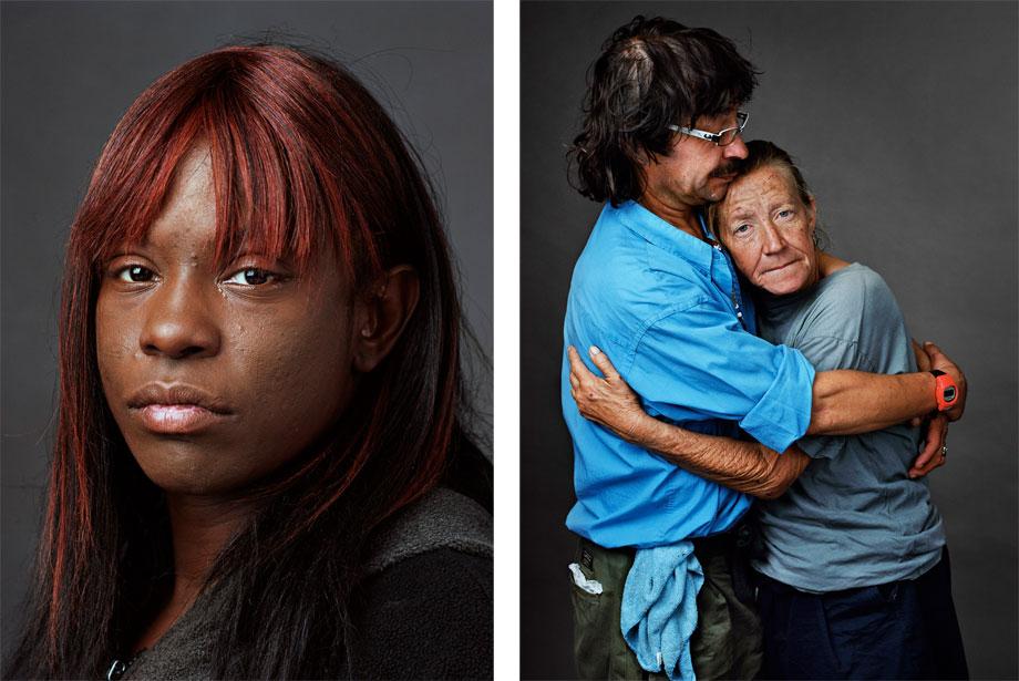 Left: Carla, Atlanta, Ga.. Right: Pierre and Cinthia, Atlanta, G