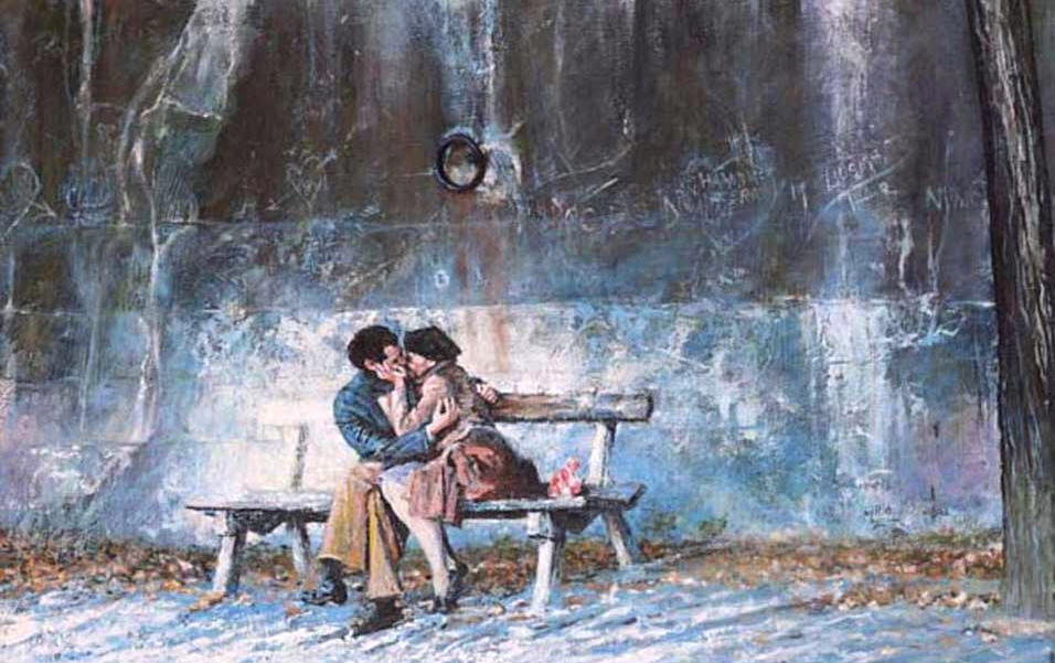 Lovers on the Seine II by Rolf Harris