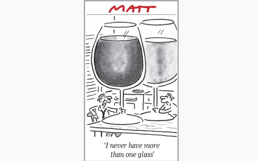 نشده که بیشتر از یه گیلاس شراب بخورم در روز