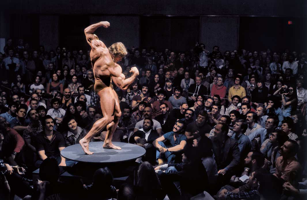 "New York City, 1976 Arnold Schwarzenegger, ""Articulate Muscle: T"