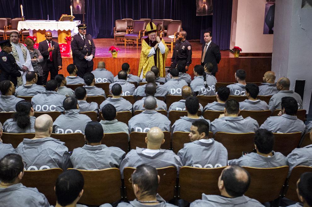 نیویورک - زندان ریکر ایلند و مراسم کریسمس امسال Reuters/Lucas Jackson