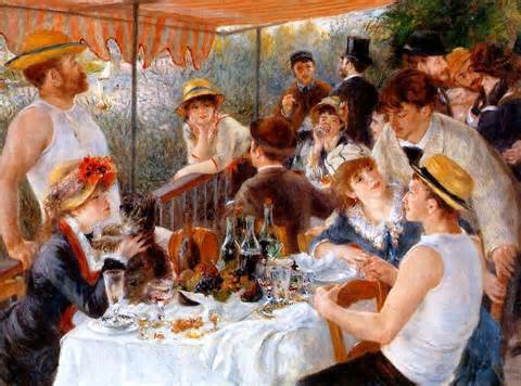 the Boating Party by Pierre-Auguste Renoir,