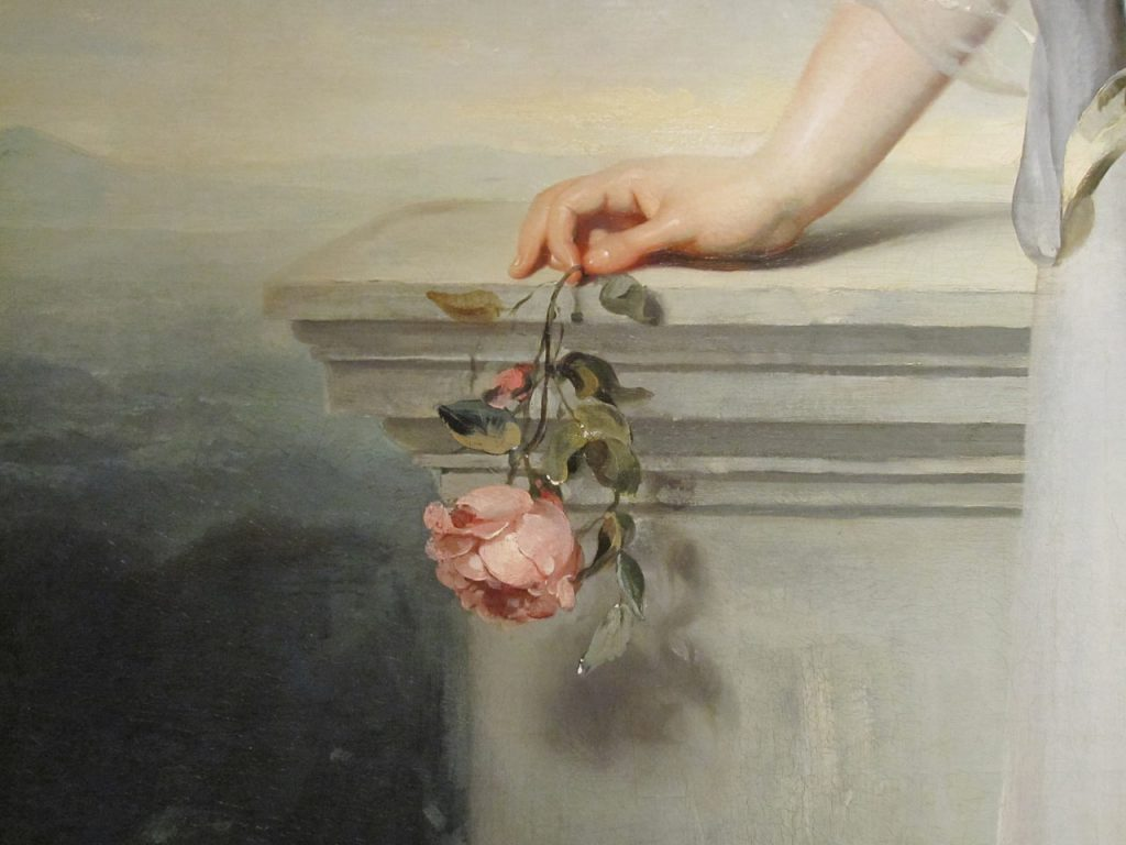A rose painted by the British painter Thomas Lawrence