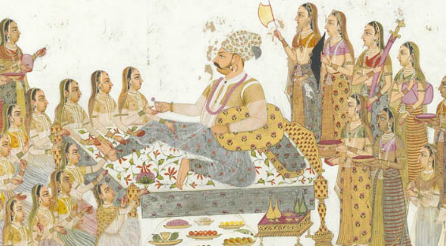 Maharaja-Bakhat-Singh-and-Zenana-women