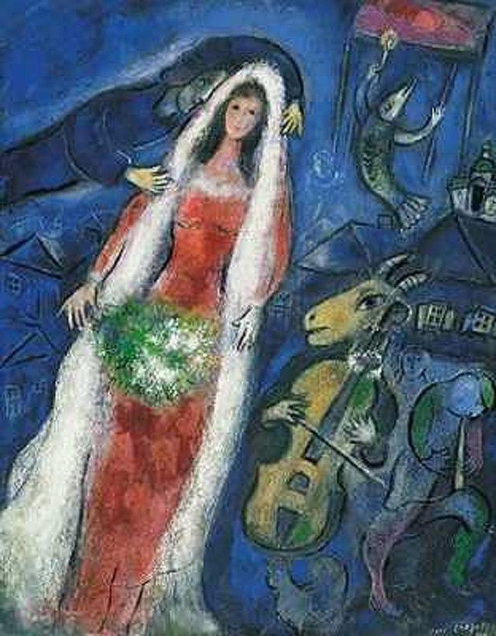 Chagall-La Mariee-1927