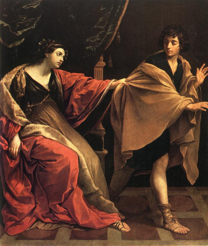 Joseph and Potiphar's Wife painting by Guercino - 1649