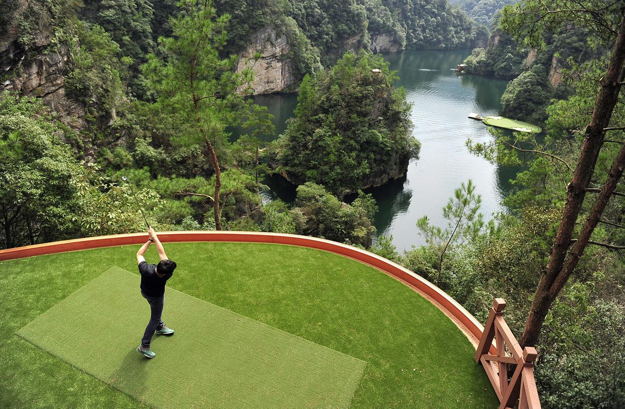 بازی گلف برای متمولین جدید چین