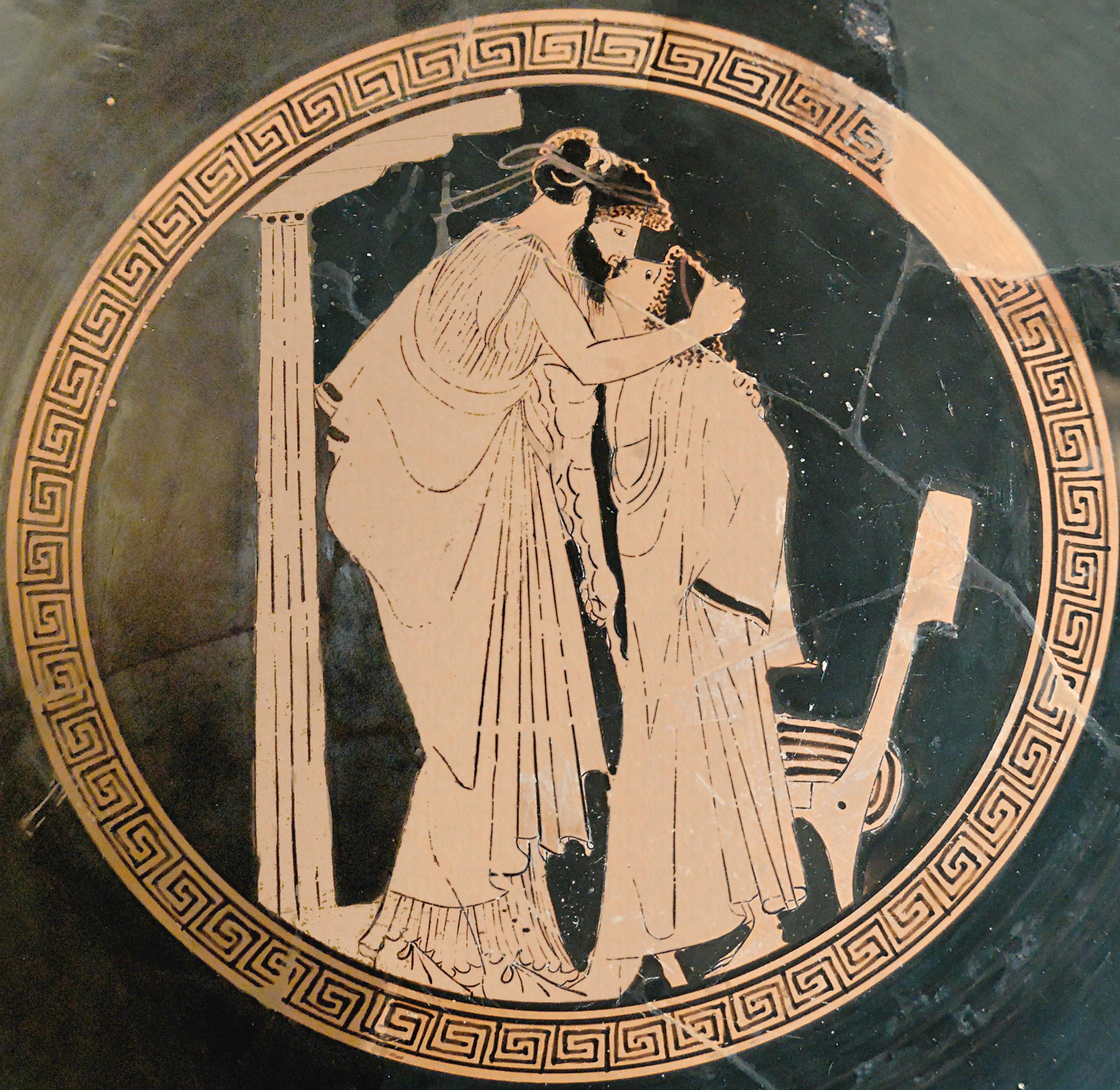 Thetis Imploring Zeus, painting by Ingres