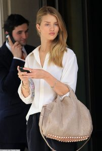Rosie Huntington-Whiteley looking fashionable while out and about in NYC
