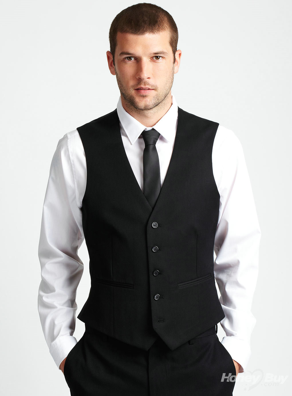 Classic_Black_Wool_Vest_New_Style_Fashion_Tailor_Made