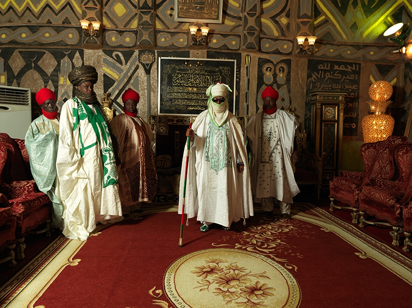 7.Emir of Kano with courtiers