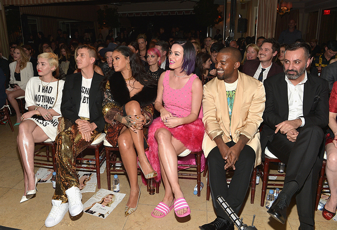 Miley Cyrus, Jeremy Scott, Rihanna, Katy Perry, Kanye West, Mazdack Rassi
