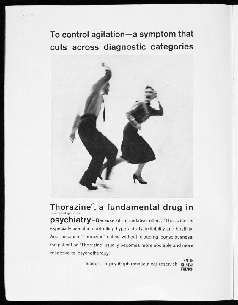 L0077037 Advert for the psychiatric drug Thorazine