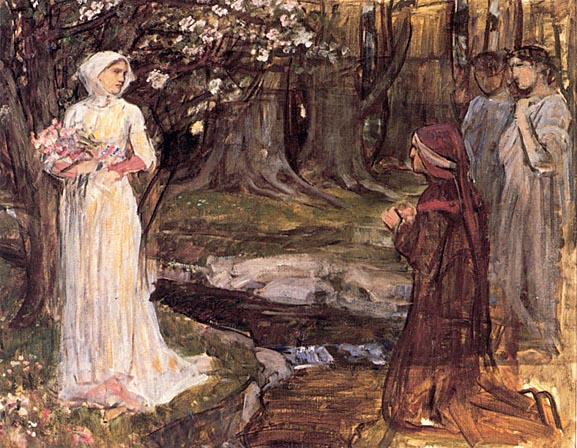 Waterhouse Dante and Beatrice