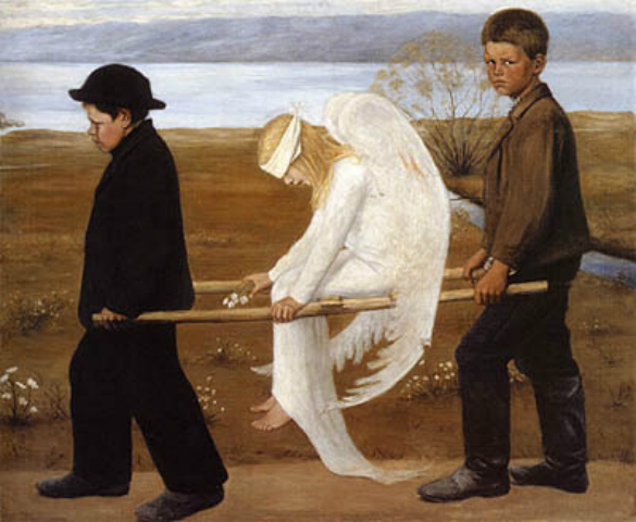 Wounded Angel - Hugo Simberg