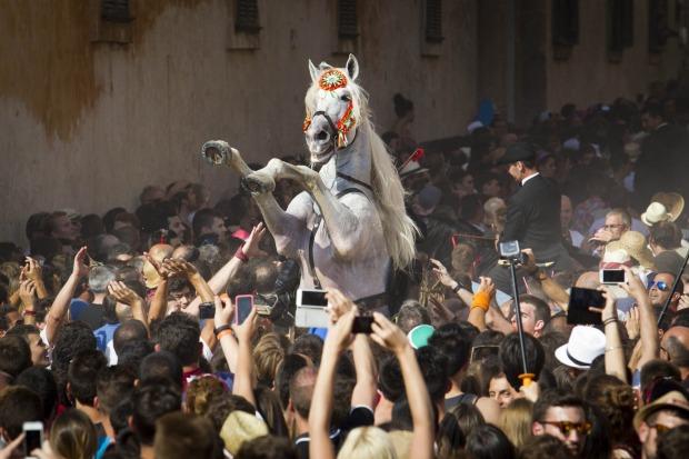 جشن « جان مقدس» و رژه اسب سواران از میان جمعیت در شهر Ciutadella
