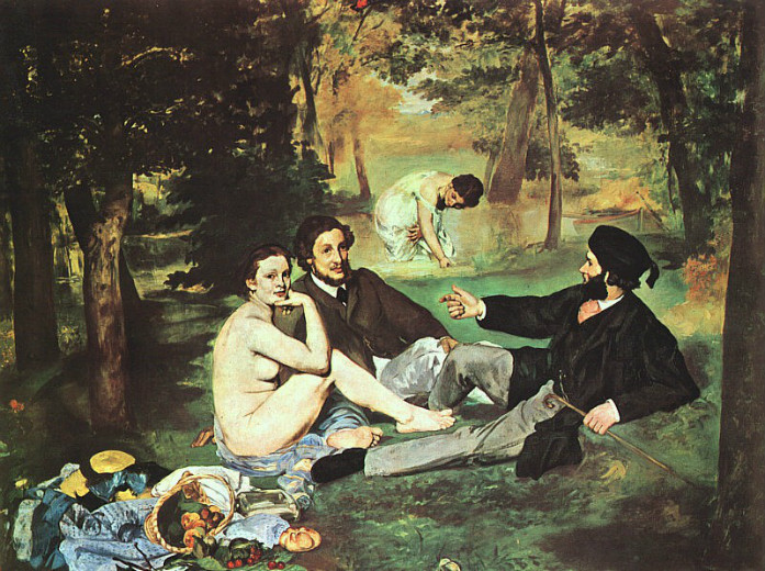 EDOUARD-MANET-Le-Déjeuner-sur-lHerbe-Luncheon-on-the-grass-1862-63
