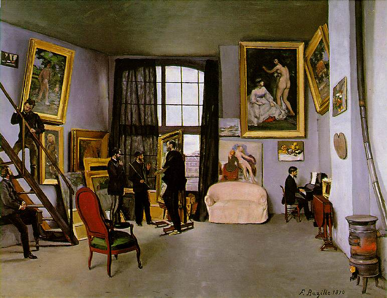 FRÉDERIC-BAZILLE-The-artists-studio-Bazilles-Studio-9-rue-de-la-Condamine-1870