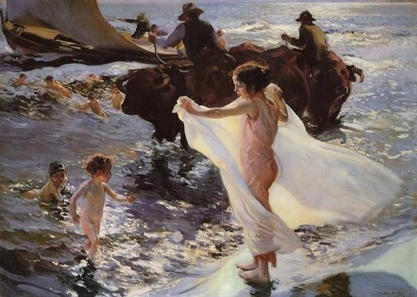 JOAQUÍN-SOROLLA-La-hora-del-baño-The-Bathing-hour-1904