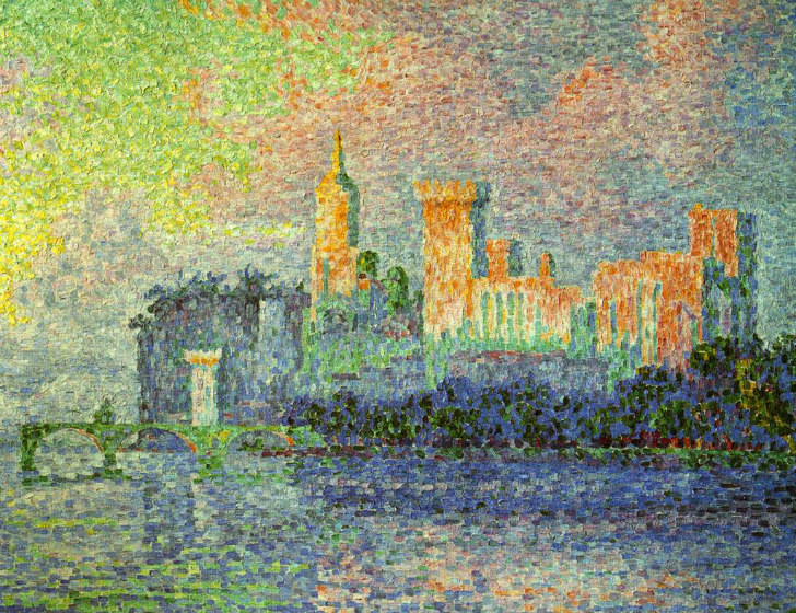 PAUL-SIGNAC-Le-Palais-des-Papes-Avignon-The-Papal-Palace-Avignon-c