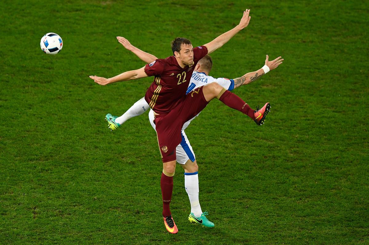 بازی فوتبال اسلواکی  و روسیه در جام ملت های اروپا 2016