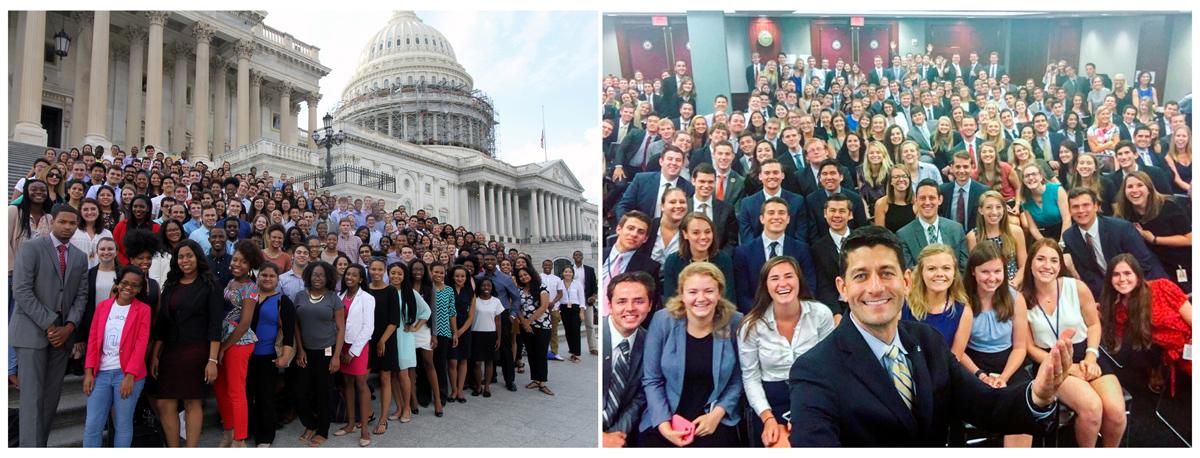 کارمندان افتخاری دو حزب جمهوریخواه و دمکرات در کاخ سفید... سمت راست جمهوری خواهان