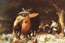 وسوسه ی آنتونیوس مقدس اثر نقاش اروپایی یوس فان کریزبیک در سال 1650