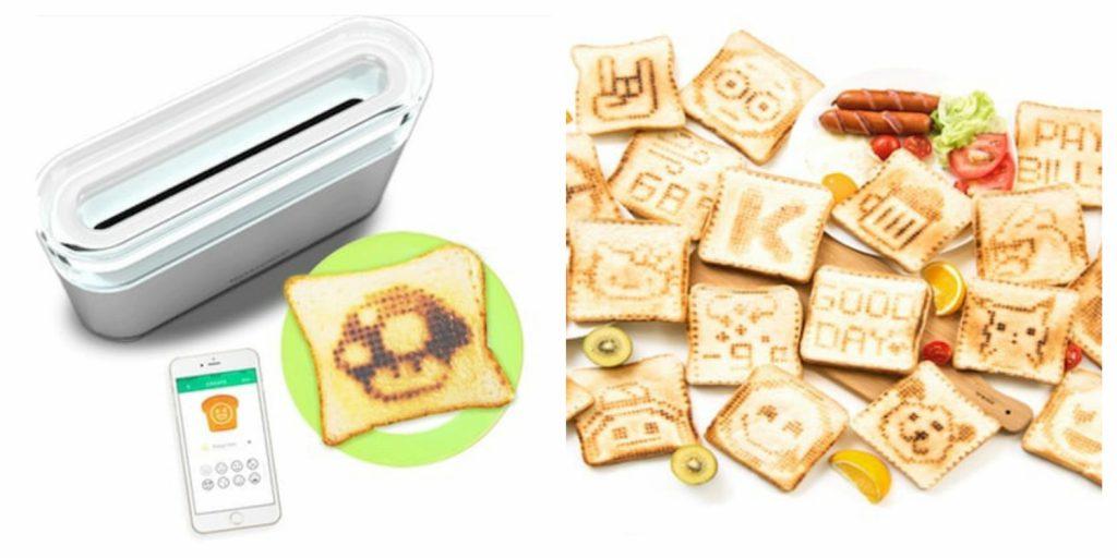 توست کردن نان با تلفن همراه